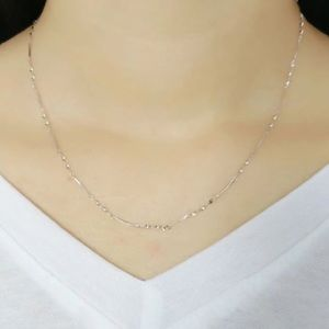 **Thin Link Design 925 Sterling Silver Necklace **